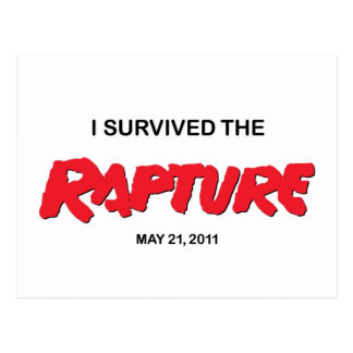 Rapture, I survived Postcard