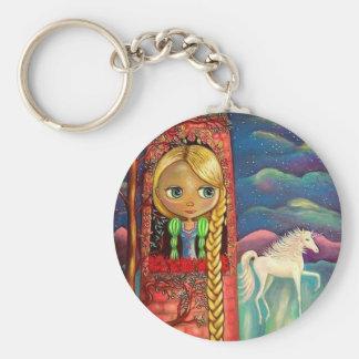 Rapunzel and the Unicorn Keychain