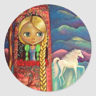 Rapunzel and the Unicorn Sticker