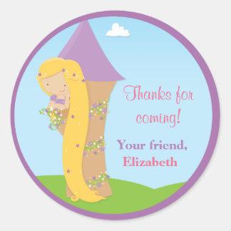 Rapunzel Birthday Party Round Sticker