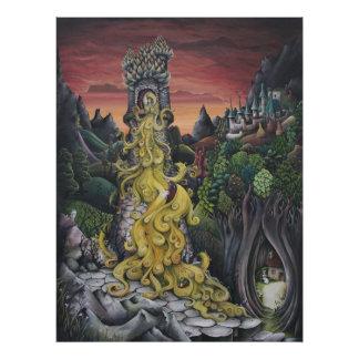 Rapunzel Fairy Tale painting print Photograph