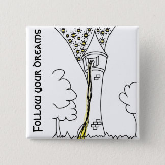 Rapunzel. Follow your dreams 15 Cm Square Badge