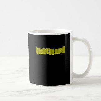 Raquel black white coffee mug