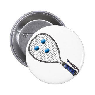 Raquetball Face made with balls 6 Cm Round Badge