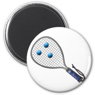 Raquetball Face made with balls 6 Cm Round Magnet