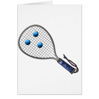 Raquetball Face made with balls Greeting Card
