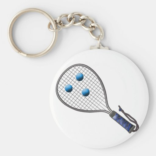 Raquetball Face made with balls Key Chain