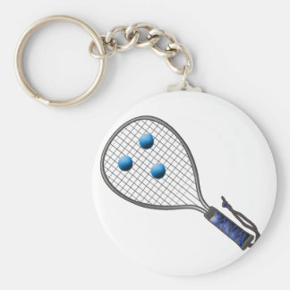 Raquetball Face made with balls Key Ring