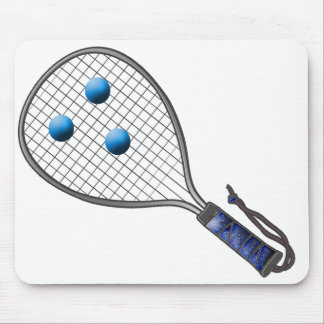 Raquetball Face made with balls Mouse Pad