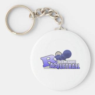 Raquetball My Sport! Basic Round Button Key Ring