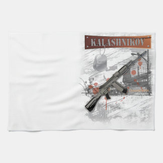RARE AK-47 RUSSIAN ARMY KALASHNIKOV GUN MILITARY TEA TOWEL