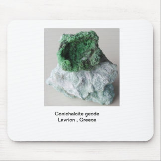 Rare Conichalcite geode from Lavrion Mouse Pad