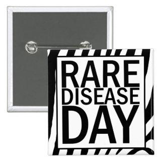 Rare Disease Day button (zebra print)