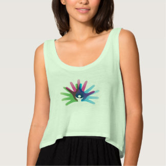 Rare Disease Day Flowy Crop Tank Top