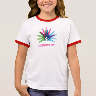 Rare Disease Day Girl's Ringer T-Shirt
