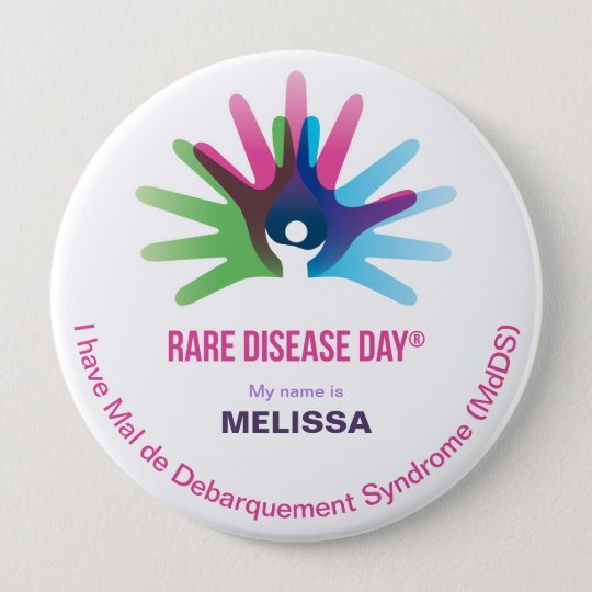 Rare Disease Day, Personalise All, Round Button