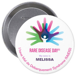 Rare Disease Day, Personalize All, Round Button