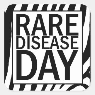 Rare Disease Day sticker sheet (zebra print)