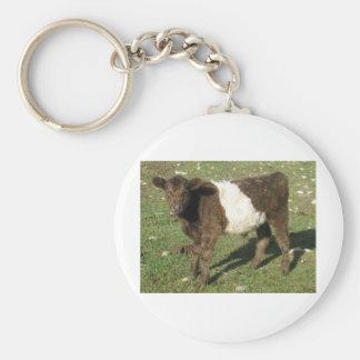 Rare Dun Belted Galloway Calf Keychain
