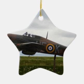 Rare Hawker Hurricane Ceramic Star Decoration