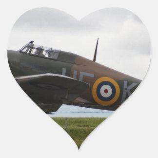 Rare Hawker Hurricane Heart Sticker