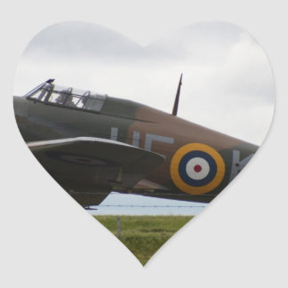 Rare Hawker Hurricane Heart Sticker