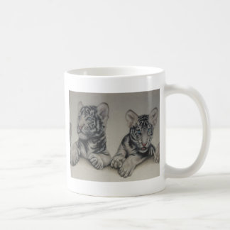 Rare Pair  White Tiger Cubs Basic White Mug