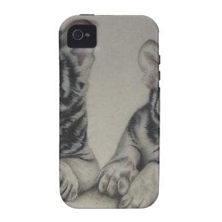 Rare Pair  White Tiger Cubs iPhone 4 Case