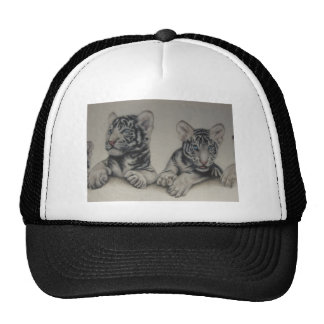 Rare Pair  White Tiger Cubs Hats