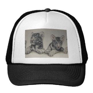 Rare Pair  White Tiger Cubs Hat