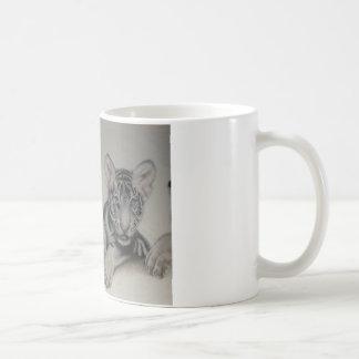 Rare Pair  White Tiger Cubs Coffee Mugs