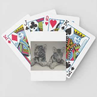Rare Pair White Tiger Cubs Playing Cards