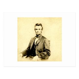 RARE President Abraham Lincoln STEREOVIEW VINTAGE Postcard
