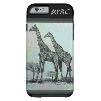 Rare Retro African Giraffes in High Color Design Tough iPhone 6 Case
