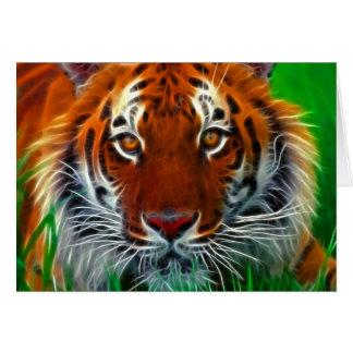 Rare Sumatran Tiger from Indonesia Greeting Card