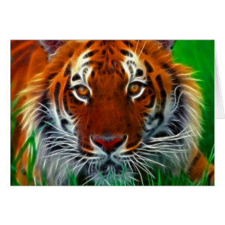 Rare Sumatran Tiger from Indonesia Greeting Card