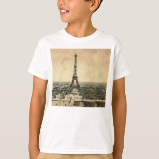 Rare vintage postcard with Eiffel Tower in Paris T-Shirt