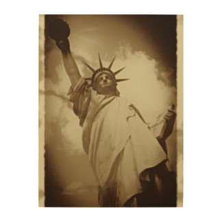 Rare Vintage Statue of Liberty Historical Picture Wood Prints