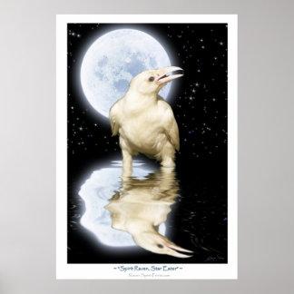 Rare WHITE RAVEN Fantasy Art Poster