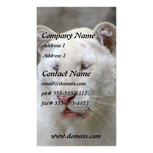 Rare White Tiger Business Card