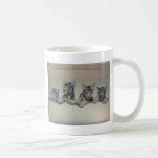 Rare White Tiger Cubs Basic White Mug