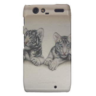 Rare White Tiger Cubs Droid RAZR Cover