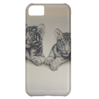 Rare White Tiger Cubs Cover For iPhone 5C