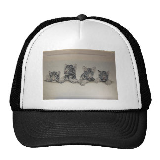 Rare White Tiger Cubs Hats