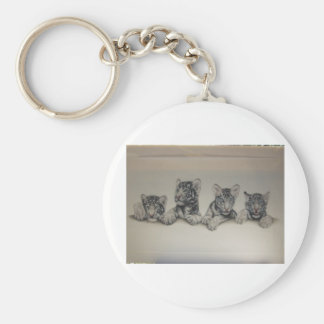 Rare White Tiger Cubs Keychains