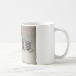 Rare White Tiger Cubs Coffee Mug