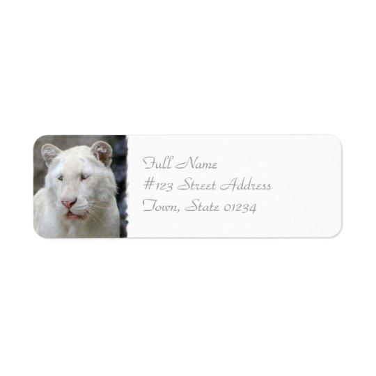 Rare White Tiger Mailing Label