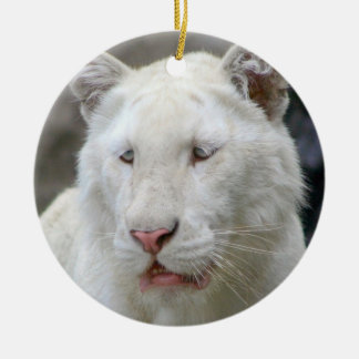 Rare White Tiger Ornament