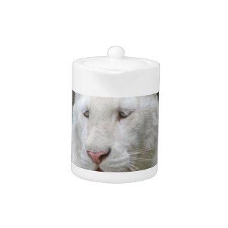 Rare White Tiger  Teapot
