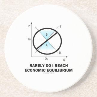 Rarely Do I Reach Economic Equilibrium (Economics) Beverage Coasters